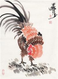 大吉图 镜心 设色纸本 by deng guoyuan