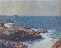 the pacific coastline on a clear day by ernest bruce nelson