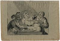 nachtmahl mit einem paar und edelmann bei kerzenschein by leonard bramer