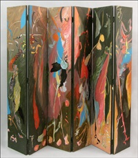 untitled abstract - six panel screen by lamar briggs