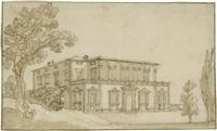 ansicht einer villa in der toskana by remigio cantagallina