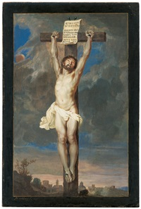 christus am kreuz by michiel cabbaey