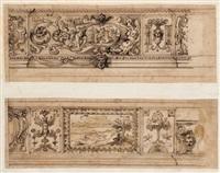 groteskenornament und bildschmuck für den palazzo pallavicini rospigliosi in rom (2 frescoes) by cherubino alberti