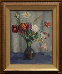 still life with flowers by abel george warshawsky