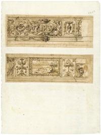 zwei wandfriese mit groteskenornament und bildschmuck für den palazzo pallavicini rospigliosi by cherubino alberti