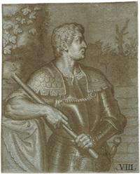 bildnis des römischen kaisers ottone in rüstung mit feldherrenstab by bernardino campi