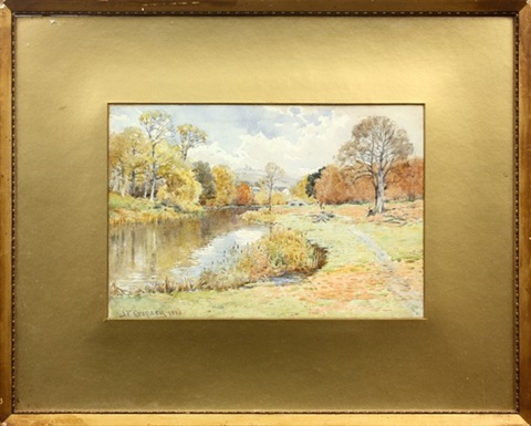 autumn stream by jasper francis cropsey