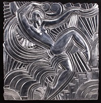 figural panel (after design for the folies bergeres) by maurice (pico) picauld