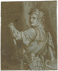 bildnis des römischen kaisers titus mit lorbeerkranz by bernardino campi