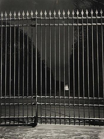 la grille du jardin du luxembourg paris by brassaï