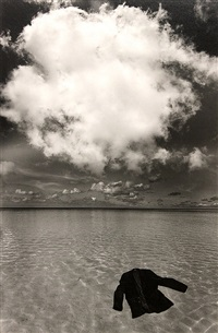 untitled (jacket floating on water) by jerry uelsmann