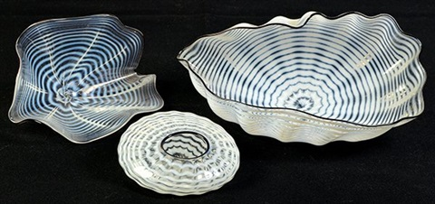 seafoam forms (set of 3) by dale chihuly