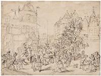 mortales volunt decipi (die sterblichen wollen betrogen werden): karnevalsszene auf dem grote markt in antwerpen by anonymous-flemish (17)
