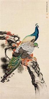 孔雀图 by liu kuiling