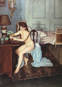 in her boudoir by francis helps