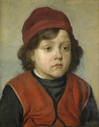 bildnis eines jungen mit roter kappe by lazar krestin