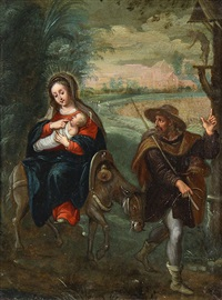 the flight to egypt by flemish school-antwerp (17)