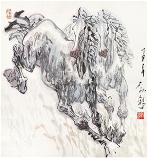 双骏图 by liu boshu