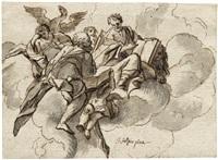 die vier evangelisten auf wolken schwebend by johann evangelist holzer