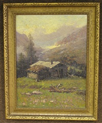 the prospector's cabin by henry leopold richter