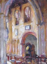 a church interior by e.charlton fortune
