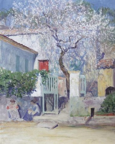 spring on the riviera by guy rose