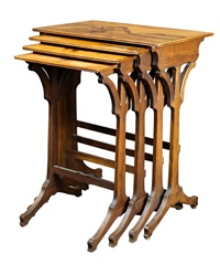 A group of Emile Galle nesting tables
