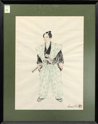 portrait of a samurai warrior by chiura obata