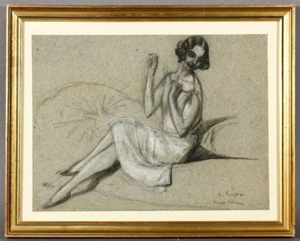 marie lenor by léonard tsuguharu foujita