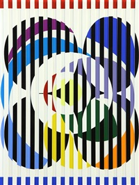 optical illusions in colors (agamograph) by yaacov agam