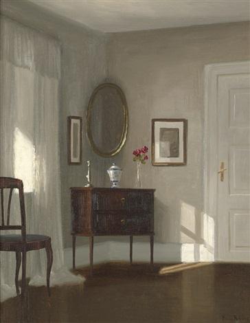 Interieur mit Spiegel und Kommode by Kai Jeppe Drews on artnet