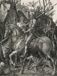 der reiter (ritter tod und teufel) by albrecht dürer