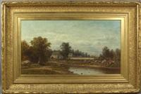 new england farm scene by charles wilson knapp
