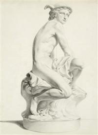 merkur schnürt sich seine ledernen flügelschuhe (after sculpture by j. b. pigalle) by giovanni domenico campiglia