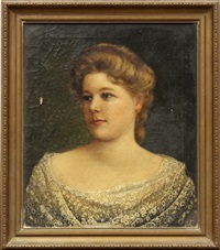 portrait of young woman by andrew putnam hill