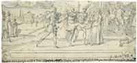 der hl. viktor von marseille verweigert das römische götzenopfer by françois quesnel