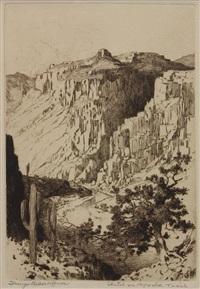 black pool; sketch on apache trail; ragged pines; winter pines (4 works) by george elbert burr