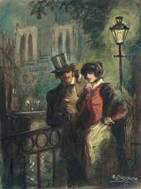 galantes paar in paris by richard duschek