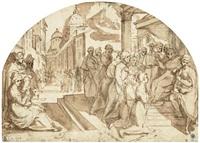 bischof ardingo von florenz erteilt den sieben gründern des servitenordens seinen segen by anonymous-italian-florentine (17)