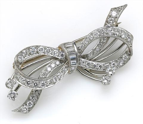 a bow brooch by shreve crump low