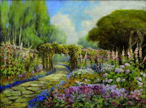 path by the garden to the sea - pacific grove, california by william adam