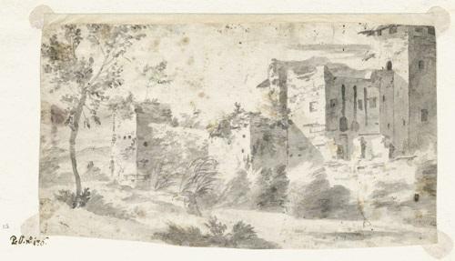 landschaft mit römischen ruinen by pieter van bloemen