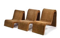 nesting chairs (model wiggle) (series easy edges) (set of 3) by frank gehry
