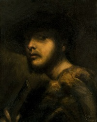 zwei herrenportraits (after rembrandt) by federico ciappa