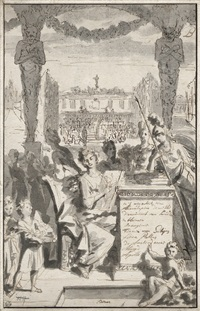 allegorische darstellung mit flora und pallas athene by philippe tidemann