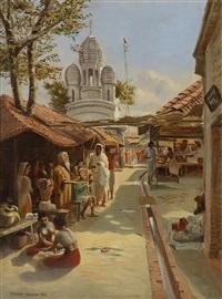 orientalist market scene by arthur trevor haddon