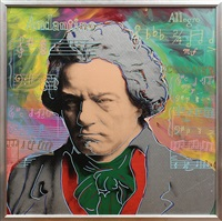 beethoven (silver) by steve kaufman