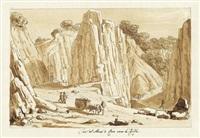 höhle von allume di rocca bei tolfa by luigi basiletti
