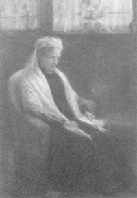 grossmutter im armstuhl by louis loeb