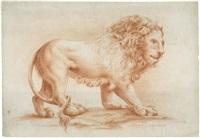 schreitender löwe by philipp ludwig moeglich